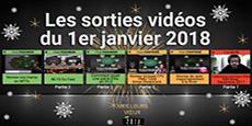 Image de couverture de l'article Sorties  vidéos du 1er janvier 2018